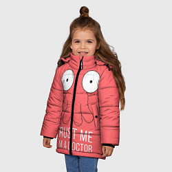 Куртка зимняя для девочки Доверься Зойдбергу цвета 3D-черный — фото 2