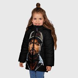 Куртка зимняя для девочки Ice Cube цвета 3D-черный — фото 2