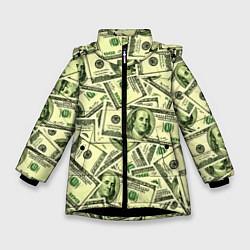 Куртка зимняя для девочки Benjamin Franklin цвета 3D-черный — фото 1