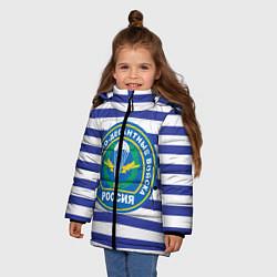Куртка зимняя для девочки ВДВ Россия цвета 3D-черный — фото 2