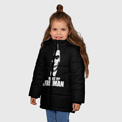 Куртка зимняя для девочки Wake up Mr. Freeman цвета 3D-черный — фото 2