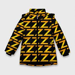 Детская зимняя куртка для девочки с принтом Brazzers Z, цвет: 3D-черный, артикул: 10133766306065 — фото 1