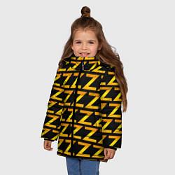 Куртка зимняя для девочки Brazzers Z цвета 3D-черный — фото 2