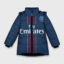 Куртка зимняя для девочки PSG FC: Blue цвета 3D-черный — фото 1