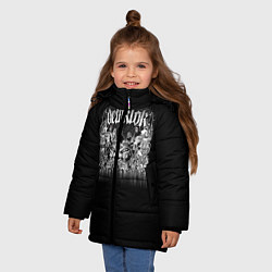 Детская зимняя куртка для девочки с принтом Dethklok: Demons, цвет: 3D-черный, артикул: 10134389906065 — фото 2