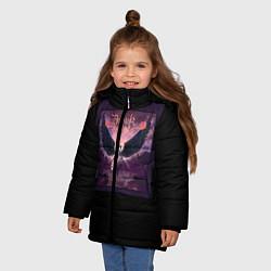 Куртка зимняя для девочки Dethklok: Angel цвета 3D-черный — фото 2