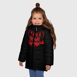 Куртка зимняя для девочки Dethklok цвета 3D-черный — фото 2