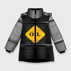 Куртка зимняя для девочки Oil цвета 3D-черный — фото 1