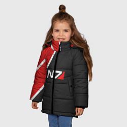 Куртка зимняя для девочки N7 Space цвета 3D-черный — фото 2