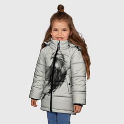 Куртка зимняя для девочки Дикий орел цвета 3D-черный — фото 2