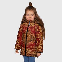 Куртка зимняя для девочки Человек-ковер цвета 3D-черный — фото 2