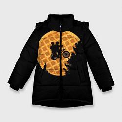 Куртка зимняя для девочки Wafer Rider цвета 3D-черный — фото 1
