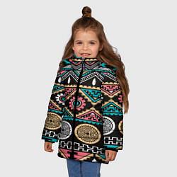 Куртка зимняя для девочки Этника цвета 3D-черный — фото 2