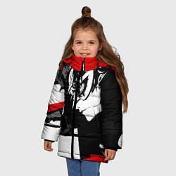 Куртка зимняя для девочки Persona 5 цвета 3D-черный — фото 2