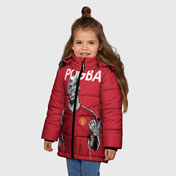 Куртка зимняя для девочки FC MU: Pogba цвета 3D-черный — фото 2