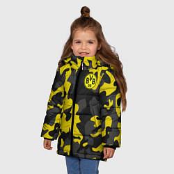 Куртка зимняя для девочки Borussia 2018 Military Sport цвета 3D-черный — фото 2