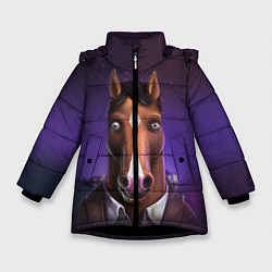 Куртка зимняя для девочки BoJack цвета 3D-черный — фото 1