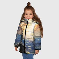 Куртка зимняя для девочки Knight Link цвета 3D-черный — фото 2