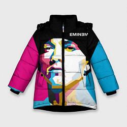 Куртка зимняя для девочки Eminem Poly Art цвета 3D-черный — фото 1