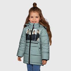 Куртка зимняя для девочки The Cranberries цвета 3D-черный — фото 2