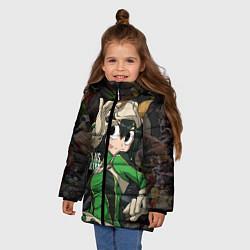 Детская зимняя куртка для девочки с принтом Plus Ultra: My Hero Academia, цвет: 3D-черный, артикул: 10144543506065 — фото 2