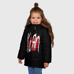 Куртка зимняя для девочки Korn: Blood цвета 3D-черный — фото 2