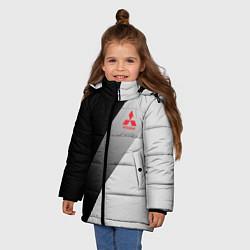 Куртка зимняя для девочки MITSUBISHI ELITE цвета 3D-черный — фото 2