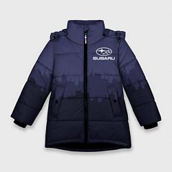 Куртка зимняя для девочки Subaru: Night City цвета 3D-черный — фото 1