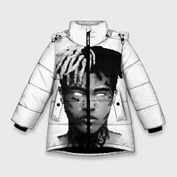 Куртка зимняя для девочки XXXTentacion: Pixel Art цвета 3D-черный — фото 1