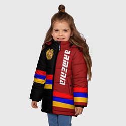 Куртка зимняя для девочки Armenia цвета 3D-черный — фото 2