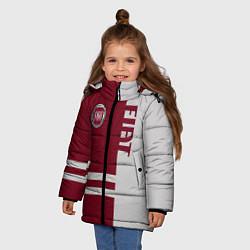 Детская зимняя куртка для девочки с принтом Fiat, цвет: 3D-черный, артикул: 10147167306065 — фото 2