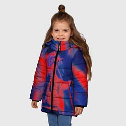 Детская зимняя куртка для девочки с принтом T-Fest: Neon Style, цвет: 3D-черный, артикул: 10147367706065 — фото 2