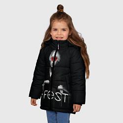 Куртка зимняя для девочки T-Fest: Black Style цвета 3D-черный — фото 2