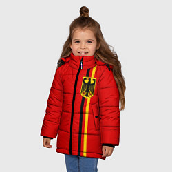 Куртка зимняя для девочки Германия цвета 3D-черный — фото 2