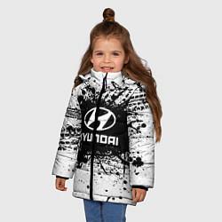 Куртка зимняя для девочки Hyundai: Black Spray цвета 3D-черный — фото 2