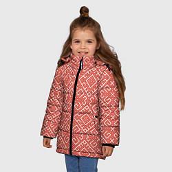Куртка зимняя для девочки Обережная вышивка цвета 3D-черный — фото 2