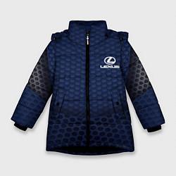 Куртка зимняя для девочки Lexus: Sport Motors цвета 3D-черный — фото 1