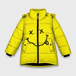 Куртка зимняя для девочки Nirvana: Yellow Smile цвета 3D-черный — фото 1
