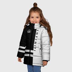 Куртка зимняя для девочки Infiniti: B&W Lines цвета 3D-черный — фото 2
