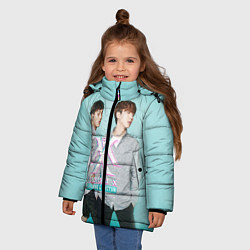 Куртка зимняя для девочки Shownu & Kihyun цвета 3D-черный — фото 2