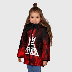 Куртка зимняя для девочки Fall Out Boy: Red Flame цвета 3D-черный — фото 2