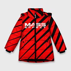 Куртка зимняя для девочки Mass Effect: Red Style цвета 3D-черный — фото 1