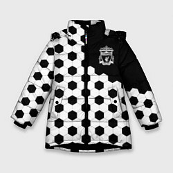 Куртка зимняя для девочки FC Liverpool: Hexa Style цвета 3D-черный — фото 1