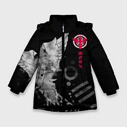 Куртка зимняя для девочки 30 STM: Grey Bird цвета 3D-черный — фото 1