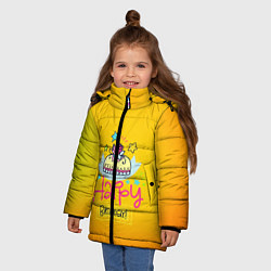 Куртка зимняя для девочки Happy Birthday цвета 3D-черный — фото 2