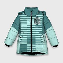 Куртка зимняя для девочки Сборная Испании: Вратарская ЧМ-2018 цвета 3D-черный — фото 1