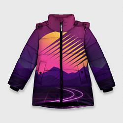 Куртка зимняя для девочки Digital Sun цвета 3D-черный — фото 1