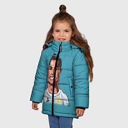 Куртка зимняя для девочки КариРоналдо цвета 3D-черный — фото 2