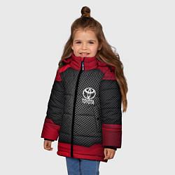 Куртка зимняя для девочки Toyota: Metal Sport цвета 3D-черный — фото 2