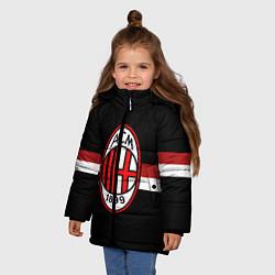 Куртка зимняя для девочки AC Milan 1899 цвета 3D-черный — фото 2